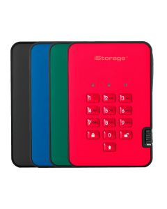 iStorage diskAshur2 portable 256-bit hardware encrypted hard drive USB 3.1 up to 5TB choice of 4 colours