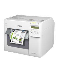 Epson ColorWorks TM-C3500 desktop colour inkjet label printer USB and Ethernet with NiceLabel software C31CD54012CD