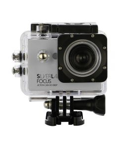 SilverLabel Focus action camera 1080p with waterproof housing USB connection