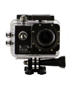 SilverLabel Focus action camera 720p with waterproof housing USB connection