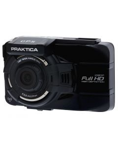 Praktica 10GW car dash cam HD 1080P video quality Wi-Fi and GPS Kit 8GB MicroSD card and case