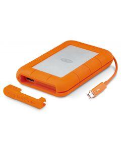 LaCie Rugged Thunderbolt USB-C 500GB - SSD - portable - external hard drive - orange and silver - STFS500400