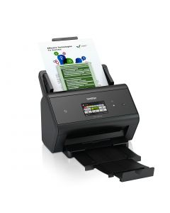 Brother ADS-3600W A4 wired and wireless 50ppm desktop document scanner with NFC
