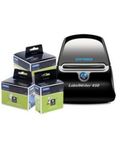 Dymo LabelWriter 450 desktop label printer bundle with 3 packs of labels 1896042