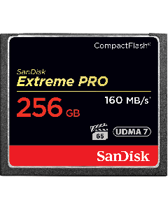 SanDisk Extreme Pro CompactFlash 256 GB memory card up to 160 MB/s SDCFXPS-256G-X46