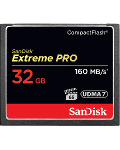 SanDisk Extreme Pro CompactFlash 32 GB memory card up to 160 MB/s SDCFXPS-032G-X46