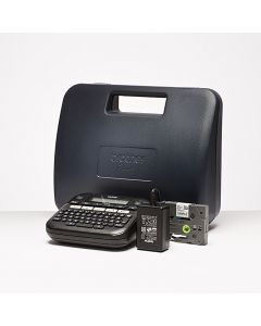 Brother PT-D210VP office desktop portable label printer with carry case
