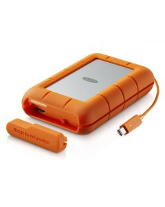 LaCie 4TB Rugged RAID two drives installed RAID 0 & 1 Thunderbolt & USB 3.0 STFA4000400