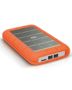 LaCie Rugged Triple 500GB mobile external hard drive - USB 3.0, FireWire/i.LINK 800 - 7200 rpm - Orange - LAC301983
