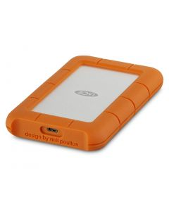 LaCie Rugged USB-C 2TB - portable - external hard drive - orange and silver - STFR2000800