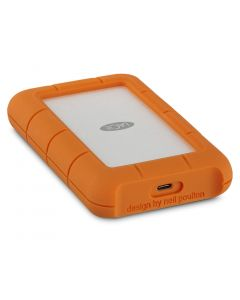 LaCie Rugged USB-C (USB 3.0 compatible) 5TB - portable - external hard drive - orange and silver - STFR5000800