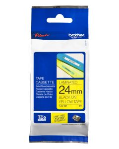 Brother TZe-651 24mm Standard Laminated tape black on yellow
