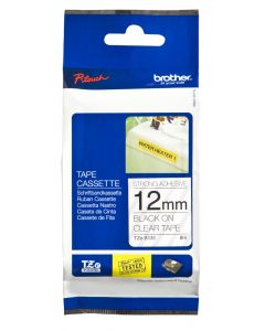 Brother TZe-S131 12mm Strong Adhesive Laminated tape black on clear