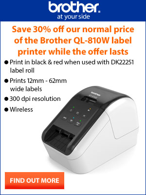 Brother QL-810W label printer offer callout