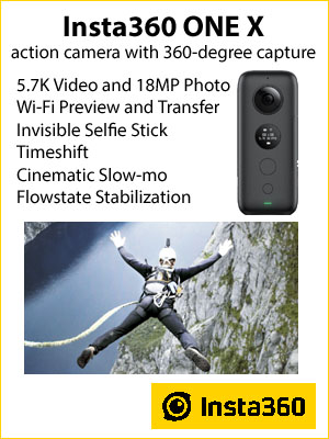 Insta360 One X action camera callout