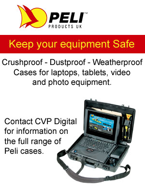 Peli cases available from CVP Digital