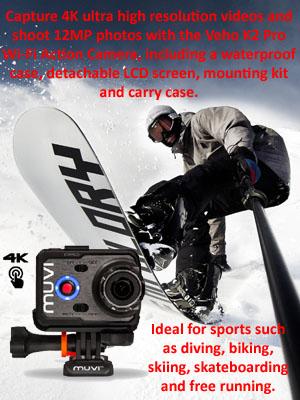 Veho K2 Pro actioncam callout